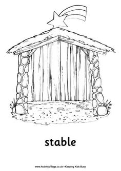 detailed christmas coloring pages bing images - Printable Nativity Coloring Pages