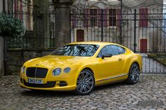 Bentley Continental GT Speed Yellow mark 2.