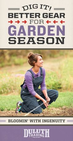 A green thumb's collection of go-to protection! Shop Duluth Trading's Heirloom Gardening Gear for gals who dig dirt. Featuring our women's overalls with over-the-top features. Grab a pair, today!