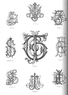 From Monograms and Alphabetic Devices. Hayward and Blanche Cirker, eds. Dover publications.  Some diabolical person cut pages out of this library book!!!