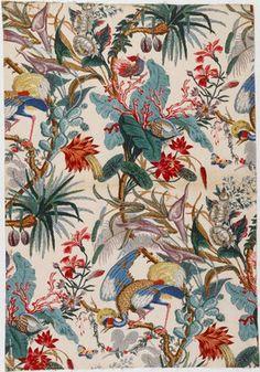 Napoléon III - Décor floral sur fond blanc