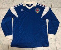 Yugoslavia 1989 Soccer Jersey Football Shirt Trikot Maillot S Japan Soccer Jersey, Arsenal Shirt, Retro Football Shirts, Color Calibration, Polo Ralph Lauren, Long Sleeve, Mens Tops, Jackets, Shopping