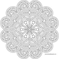 A heart mandala to print and color- also available in transparent PNG format