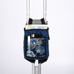 Stylish bag is just the right size for active crutch users Frees the hands to manipulate the crutches Can also be used on walkers Stylish bag makes it easier to carry personal items while using crutch