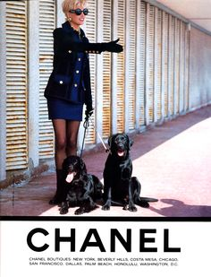 Chanel A/W 1991;   ph. Lagerfeld;  Model: Linda Evangelista