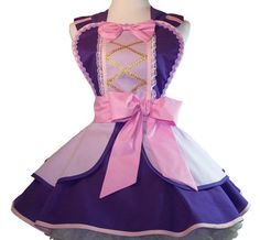 Retro Apron  Rapunzel  Pin Up Style  Made to Order by WellLaDiDa, $60.00