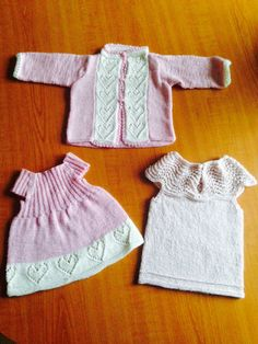 Babykjole + jakke ( mælkegarn ) Tunika Alpakka silk