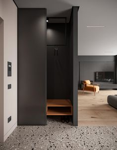 Four small apartments under 70 square metres. Featuring bright decor accents and gypsum panels for zoning, and clever furniture layouts for small spaces. Studio Floor Plans, Barn Door Designs, Gray Dining Chairs, Appartement Design, Bright Decor, Hallway Storage, Bedroom Layouts, Elegant Dining, Furniture Layout