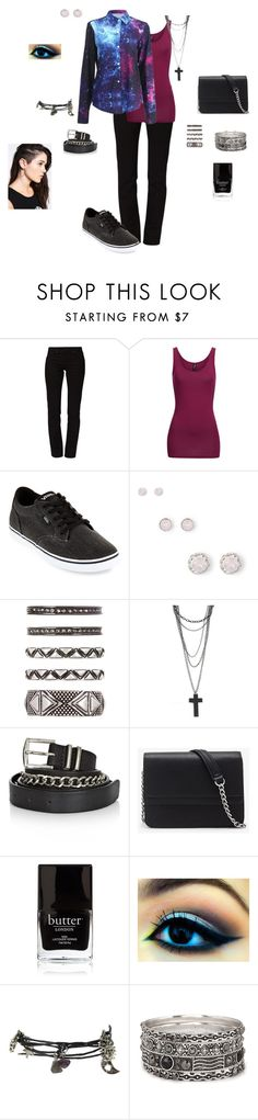 """""""Galaxy Girl"""" by live-love-music-amanda ❤ liked on Polyvore featuring Levi's, Vans, House of Harlow 1960, Twist & Tango, Forever 21 and Butter London"""