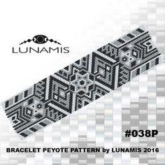 Peyote bracelet pattern odd count peyote von LunamisBeadsPatterns