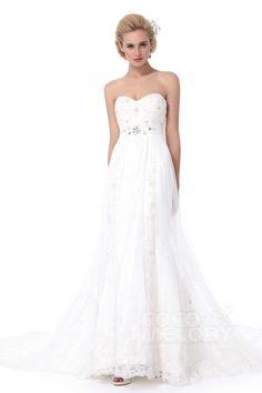 Luxurious Sheath-Column Sweetheart Chapel Train Lace Wedding Dress Alb12298#Cocomelody#weddingdresses#bridalgown#