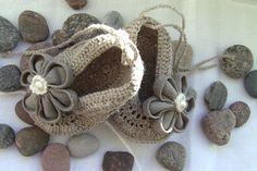 Linen Baby Girl Shoes Baby Girl Gift by ManCrochets on Etsy