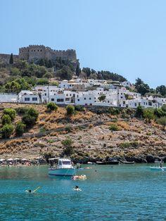 The hillside town of Lindos, Rhodes | Hello Victoria