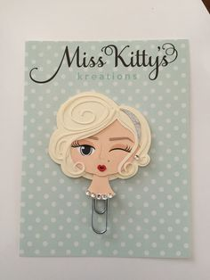 Marilyn Monroe planner clip available on Etsy