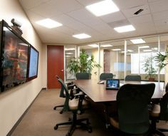 Commercial Video Wall Video Wall, Conference Room, Commercial, Table, Projects, Furniture, Home Decor, Blue Prints, Meeting Rooms