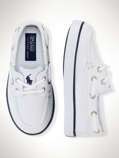 Sander Boat Shoe... Noah would look so cute in these but I knw he won't keep them clean