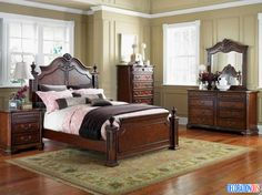 Contemporary Brown Wood Bedroom Furnishings Set - http://www.decorationous.com/interior-decoration/contemporary-brown-wood-bedroom-furnishings-set.html