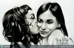 """""""Beautiful Gift  of  my daughter  and me - sketched  by Marie"""" #Creative #Art in #sketching @Touchtalent"""