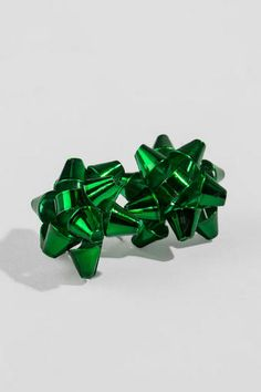 Christmas Bow Studs in Green