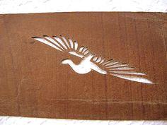 Vintage Japanese Stencil Kashigata Egret Bird No.1