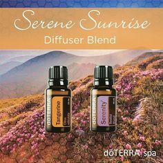 Serene Sunrise Diffuser Blend:  Tangerine  Serenity