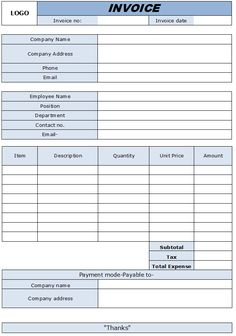 Example Of Commercial Invoice Gorgeous Commercial Invoice Template  Free Microsoft Word Templates .