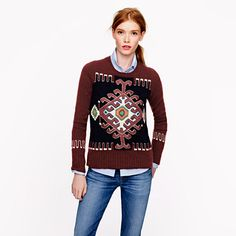 Pre-order Collection silk-embroidered cashmere sweater
