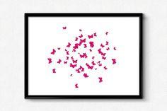 Pink BUTTERFLIESNURSERY wall artnursery by DESIGNitPRETTY on Etsy