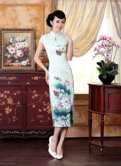 Mid-length-Satin-Fabric-Cheongsam-Qipao-Chinese-dress-C0012-A-01