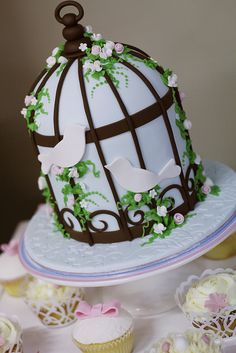 Bird Cage cake by Say it with Cake, via Flickr