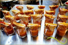 Yum! Warm grilled cheese sandwiches with homemade tomato soup by Premiere Catering
