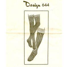 Crochet Leg Warmers Pattern -  Mail Order Design 644  -  Vintage Knit Crochet Pattern Shop