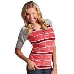 Antigua St. Louis Cardinals Ladies Sugar Burnout T-Shirt - Red