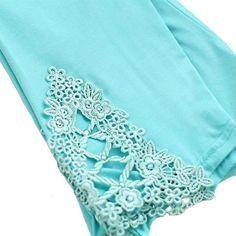 Mid-Calf Cotton Lace Leggings