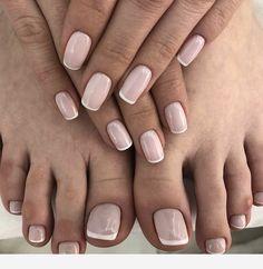 Faded french nails black fun french nail tips designs at h Shellac Nails, Nude Nails, Nail Manicure, Nail Polish, Gel Pedicure, Bridal Nails, Wedding Nails, Hair And Nails, My Nails