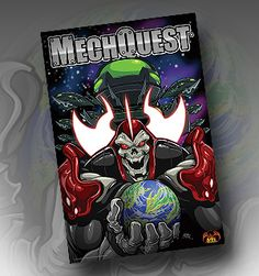 """Begin the MechQuest Finale! 24""""x36"""" Robot-Resistant Poster Man your gigantic robotic Mechs and storm headstrong into the MechQuest finale! This high gloss poster was specially crafted for the brave StarCaptains who are currently saving the universe from complete annihilation. Show them your support by purchasing this poster, scoring in-game items, and joining the giant robot showdown at www.MechQuest.com!"""
