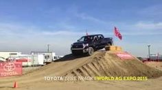 Presented by Madera Toyota: View the new 2015 Toyota 4Runner and 2015 Toyota Tundra as they climb the steep hill at the Toyota Test Track during this year's World Ag Expo.