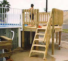 1000 images about pool decks on pinterest above ground for Free pool deck plans