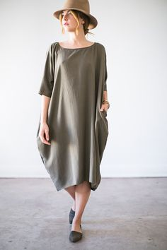 Image of Silk Cocoon Dress
