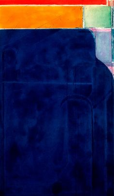 Richard Diebenkorn / Large Bright Blue, from the group Eight Color Etchings / 1980 / spit bite aquatint and soft-ground etching