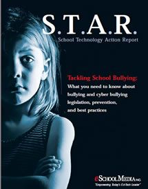 Site tells schools how to tackle bulling.  The editors of eSchool Media Inc.—with support from Houghton Mifflin Harcourt—highlight what schools needs to know about the current legal issues surrounding, and how schools are managing, bullying and cyber bullying, and how communities and companies can help combat this growing epidemic.