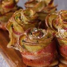 Bacon-Wrapped Potato Roses
