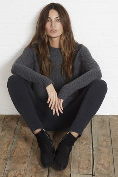 Cashmere Blend Sweater ::Cable Knit ::Velvet by Graham & Spencer