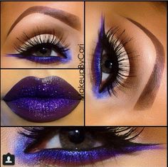 No to those brows, personally, but YES to that color purple