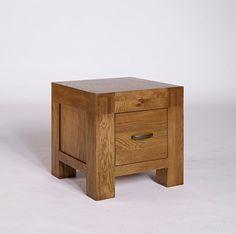 Santana Rustic Solid Oak Coffee Table (Storage 1, 2 Dawers) - 1 Drawer - Coffee Table - Ametis - Space & Shape - 1
