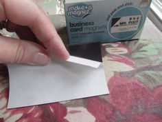 """Make your own """"save the date"""" magnets out of business card magnets"""
