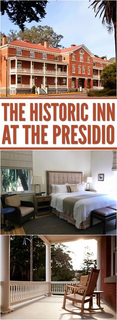 The Inn at the Presidio is a beautiful boutique hotel in the heart of San Francisco's Presidio. Get a glimpse inside this gorgeous, oasis in the city! Us Travel, Family Travel, Oasis, Travel Destinations, San Francisco, Road Trip, Bucket, Moon, Spaces
