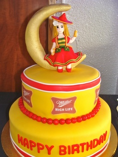 Miller High Life Cake, the Everest of baking, now I just need a professional cake decorator- I will take one for my birthday please