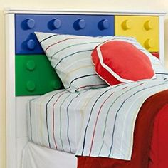 Boys Twin Headboard Lego Toys Play Bed Room Kids Child Childrens Furniture Youth