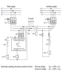automatic transferred switch ats circuit diagram electrical rh pinterest com